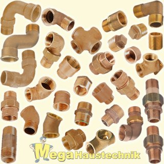 Gewinde-Fittings aus Rotguss (Serie 3000)