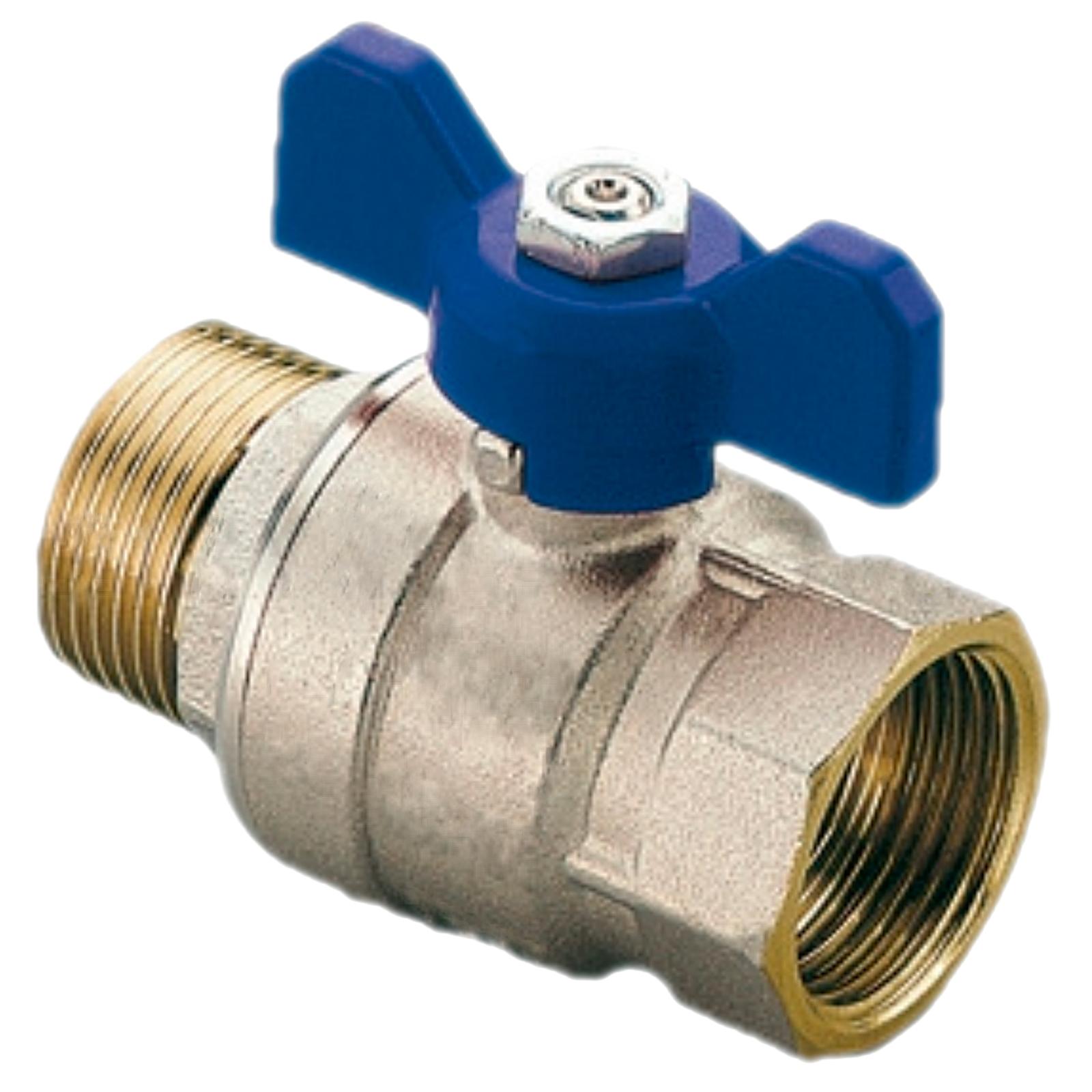 "Kugelhahn valve line G 1/"" IG//IG Ms Hebelgr +++NEU+++"