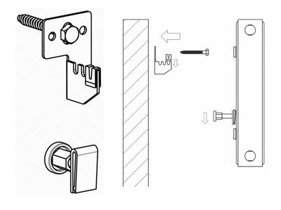 uni befestigungsset heizk rper mit laschen halterung konsolen buderus typ 10 11 ebay. Black Bedroom Furniture Sets. Home Design Ideas